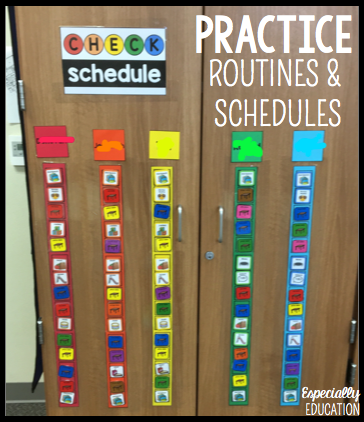 Printable Color Coded Schedules for visual scheduling in the classroom
