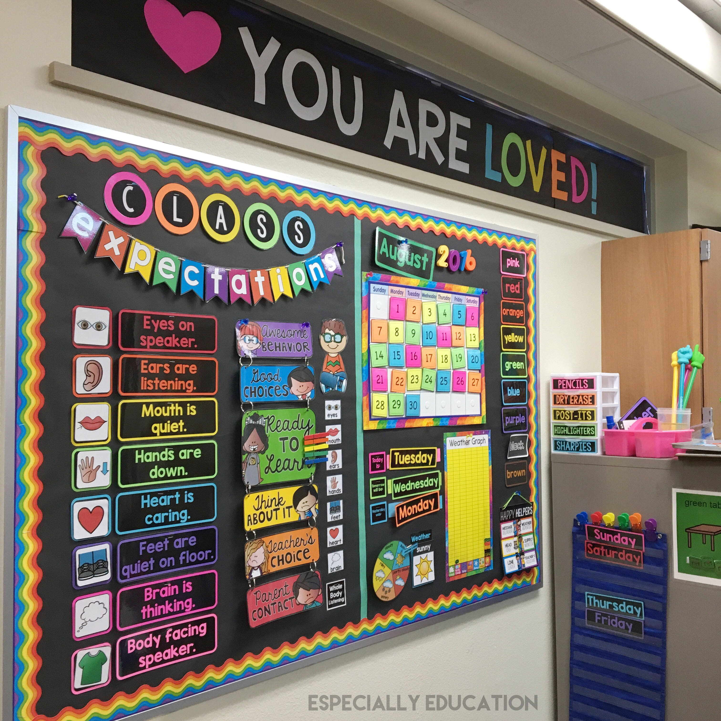 You are loved banner for Art classroom decoration ideas