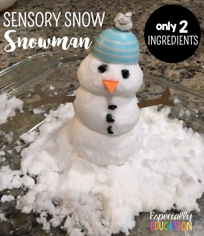 Easy Sensory Snow: Baking Soda + Conditioner