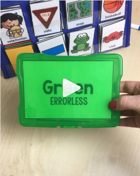 Link to Especially Education Instagram Video about errorless task boxes