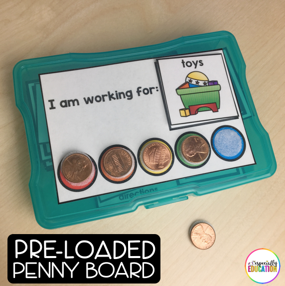 Green Errorless Task Box With A Pre-Loaded Penny Board