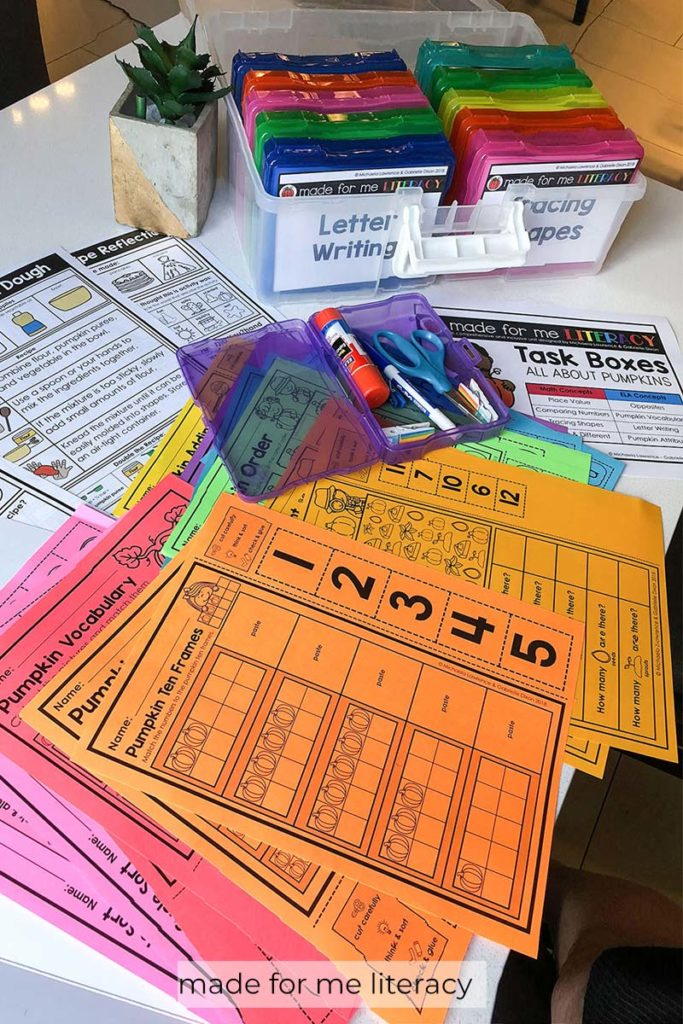Made For Me Literacy Tasks Printed On AstroBrights