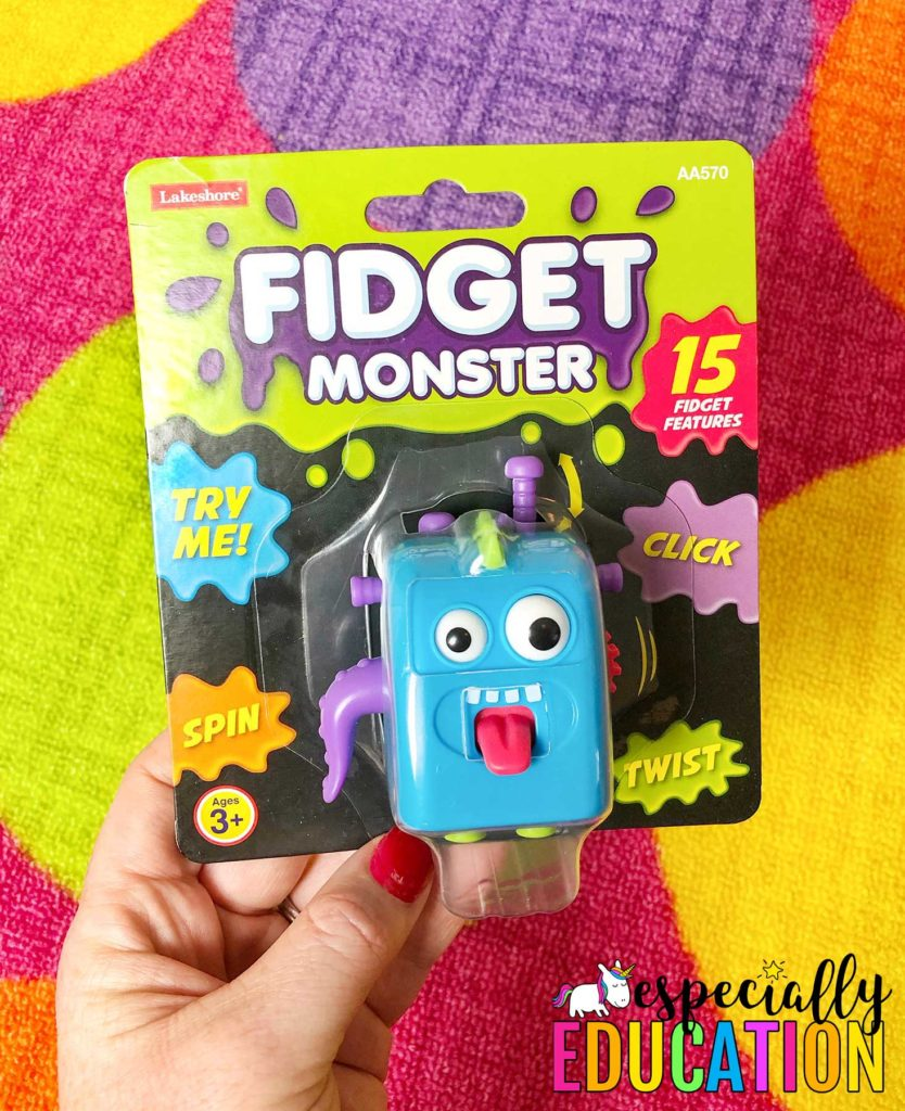 Colorful and fidget monster toy with a funny face