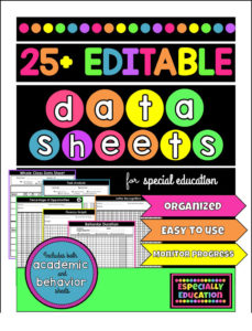 Especially Education Special Education Data Sheets