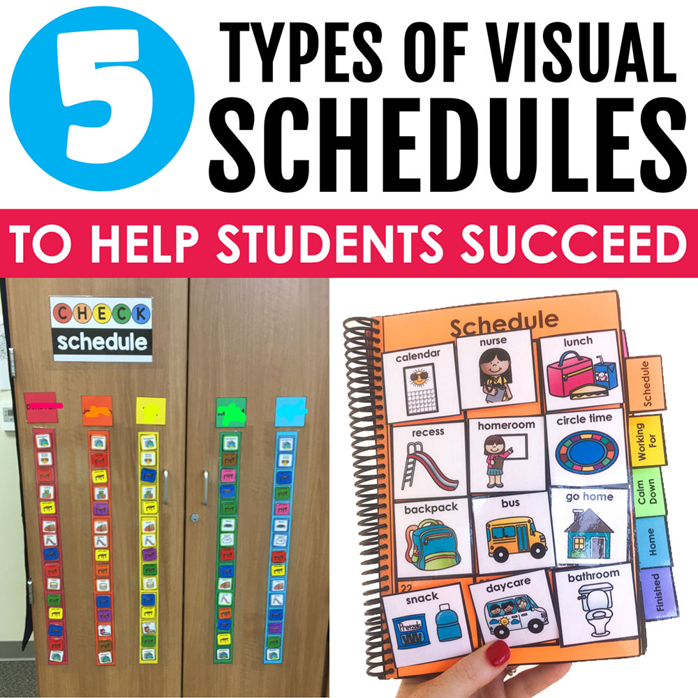 Colorful visual schedule tools